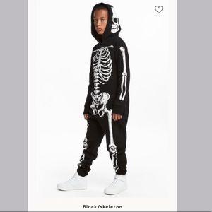 H&M Youth Skeleton Sweatshirt Jumpsuit Size 8-10Y